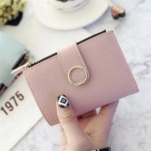 Women Wallets Small Pu Purse Ladies Card Holder Bags For Women Short Clutch Female Leather Purse Money Clip Purses