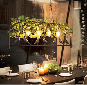 Vintage Bird Pendant Light Iron American Industrial LOFT Bar Cafe Personality E27 Decor Hanging Aisle Nordic Lamp birdcage lamp