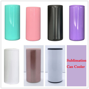 Sublimation Coating For Heat Transfer 12oz Beer Can Cooler Stainless Steel Slim Cola Can Blank Wine Tumbler For Gift