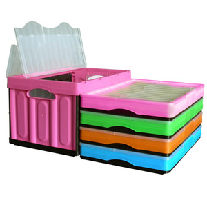 New Organizer Box Foldable Storage Bin Laundry Basket Closet Toy Storage Box Crate Collapsible Stackable Plastic Containing Box C0125