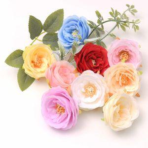 7cm 인공 실크 꽃 웨딩 장식에 대 한 흰색 장미 DIY 화환 선물 상자 scrapbooking 공예 fake flo jllmra