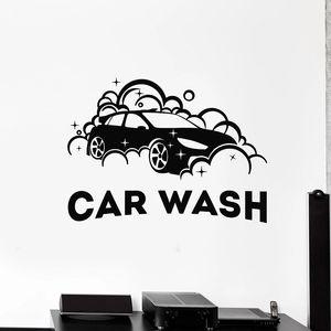 Car Wash Wall Decal Auto Cleaning Service Garage Art Decoration Door Window Logo Vinyl Stickers Creative Waterproof Mural 1857