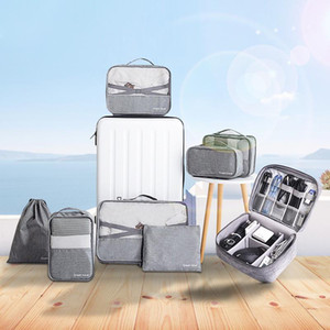 Portable Waterproof Storage Bag Travel Essential Clothes Shoes Organizer Casual Backpack Digital Package Cosmetics Accessories