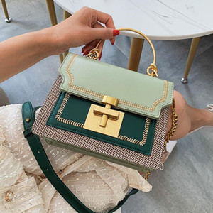 Designer- Women Crossbody Tote Bags For Women Fashion Contrasting colors Chain Shoulder Bag Female Fashion Small Handbags