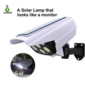 Solar Security Lights Outdoor Dummy Camera Wireless 77LEDs Spot Lights 3 Modes Motion Sensor Solar Lamp for Garden Home Park