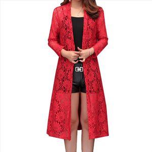 Lace Cardigan Women 2019 Summer Beach Cover Up Beachwear Plus Size L~4XL Tunic Robe Femme Bohemian Lady Blouses Cardigans Kimono