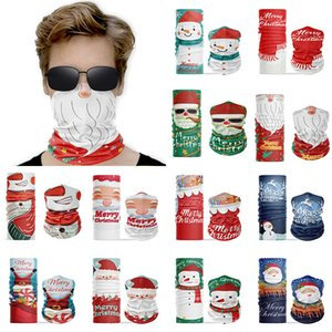 Christmas Face Shield Seamless Magic Turban 3D Printing Outdoor Sports Riding Mask Collar Scarf Christmas Face Mask XD24221