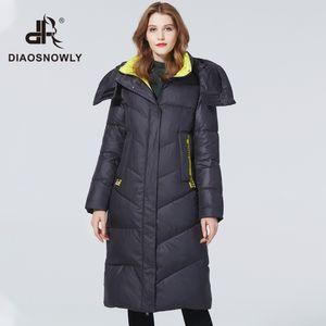 Diaosnowly 2020 Casaco Quente Plus Size Marca Hooded Jackets Long Moda Inverno roupas para mulheres jaqueta