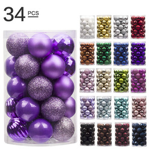 Christmas Tree Ornament Colorful Christmas Ball Xmas Tree Decorations For Hotel Shop Window Home Party Wedding Decorations