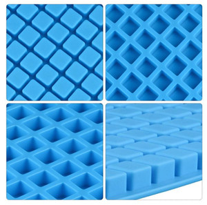 126 Hole Lattice Ice Cub Silicone Mold Cake Mousse For Ice Creams Ice Tray Chocolates Pastry Art Pan Dessert Baking Moulds CCA12646