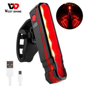 WEST BIKING Laser Line Bike Rear Light USB Rechargeable Waterproof MTB Road Bicycle Safety Warning Lamp Seatpost LED Flashlight Z1204