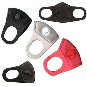 Máscara de cara de Fashio Designer con válvulas respiratorias Paño reutilizable lavable Niños enlaces adultos Algodón negro Mascarillas Protector