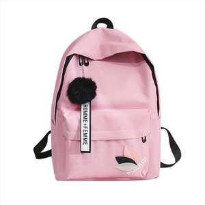 20 2020 Korean High School Student Schoolbag Female Black Yellow Canvas Backpack For Girls Bolsas Mochilas Femininas Back Bag