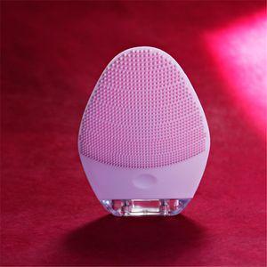 Elektrische Silikon-Gesichtsreinigungsbürste Gesichtspflege Anti-Aging-Massagegerät-Tool-Exfoliate tote Hautzellen cog-Pores entfernen Akne 201204