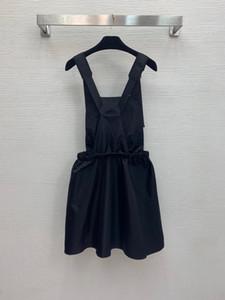 2021 Runway Dress Frühling Sommerkleid Spaghetti Strap Marke Gleiche Stil Empire Black Womens Kleid Mode Hohe Qualität Nishi