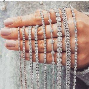 20 Style Sparkling Luxury Jewelry 925 Sterling Silver Multi Shape White Topaz CZ Diamond Gemstones Women Wedding Bracelet For Lover Gift
