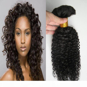 Mongolian Kinky Curly Hair 200g 2PCS Afro Kinky Curly Bulk For Braiding 100% Human Hair Crochet Braids Hair Bulk No Weft