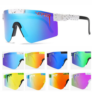 2020 Pit Viper плоский топ Очки TR90 белая рамка зеркальный линз ветрозащитные спортивные моды поляризованные солнцезащитные очки для мужчин женщин UV400