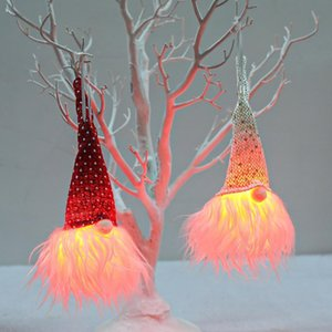 Led Light Pendant Tree Window Door Hanging Ornament Vibe Cute Gnome Doll Christmas Gift DHA2212