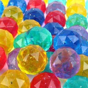 100pcs Diamond Shaped Elastic Balls Bounce Ball Kids Toy Party Bag Filler XX9E Y1127