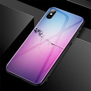 Luxury Colorful Gradient Tempered Glass Phone Case For Iphone 11 Pro Se Xsmax Xr Xs X 8 7 6s 6 Plus Protection jllLWn