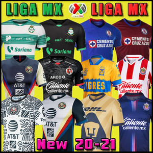 20 21 Club America Cruz Azul Футбол Джерси 2020 Гвадалахара Chivas Tijuana Unam Tigres Home Продают третий Лига MX Футбол футбол Santos Laguna