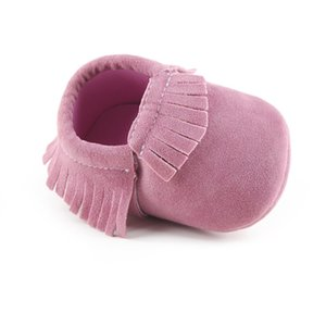 Hot First Walker 2020 PU Suede Leather Newborn Baby Moccasins Shoes Soft Soled Non-slip Crib
