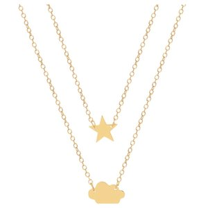 Hot Sale New Cloud Love Star Aircraft Necklace Double Layer Alloy Plating Concise Womens Clavicle Chain sqcILC queen66