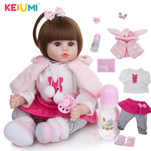 Keiumi macio algodão corpo realista bebê bonecas moda princesa menina boneca bebê reborn brinquedos cosplay toddler presentes de aniversário lj201125