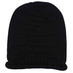 Men Women Fashion Elastic Daily Decoration Adults Solid Beanie Hat Casual Knitted Cap Autumn Winter Soft Warm Stretchable Slouch