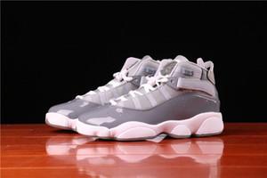 Hakiki Sıcak Satış Jumpman 6 Nesil Erkekler ve Kadınlar Yüksek Devlet Basketbol Ayakkabı Jumpman 6 Gri Çift Sneakers Boyutu 36 --- 45