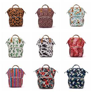 Подсолнечник подгузник мешок леопард мама рюкзак водонепроницаемый подгузник сумка большая емкость путешествия рюкзак детские коляски медсетейные сумки wq530