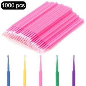 100/500 / 1000pcs pincéis cílios escovas de algodão Micro individuais cílios individuais Microbrush Removendo Limpeza Lash Extensões Acessórios