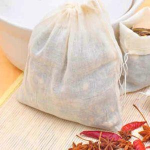 Portable 1000pc 8x10cm Cotton Muslin Reusable Drawstring Packing Bath Soap Herbs Filter Tea Bags DHD1059