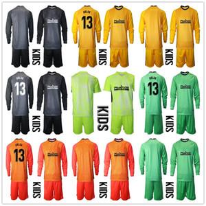 Bambini manica lunga 2020 2021 Youth ADAN Oblak portiere maglie set da calcio # 13 Jan Oblak # 1 ADAN Kid Boy Portiere per bambini Uniforme