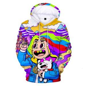 2019 Aikooki novo rapper 6ix9ine moletom homens / mulheres outono moda harajuku popular hoodie 3d impressão 6ix9ine hoodie 3d top