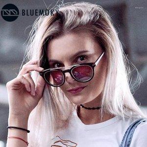 BlueMoky Polarizado Gafas de sol Redondas Ligeras Ligeras Piernes Doble Doble Diseñador Diseñador de marca Driving Gafas de sol Mujer1