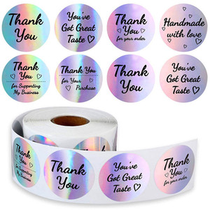 500pcs 1.5inch Thank You Stickers Label Wedding Tag Glass Bottle Envelope Business Box Gift Invitation Card Decor