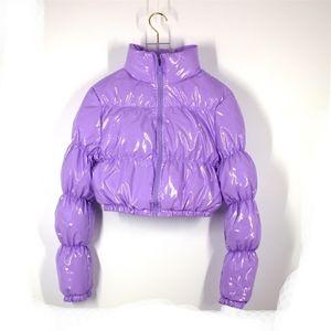AtxYxta Puffer Chaqueta Recortada Parka Bubble Coat Winter Mujeres Nueva Moda Ropa Verde XL Y201012