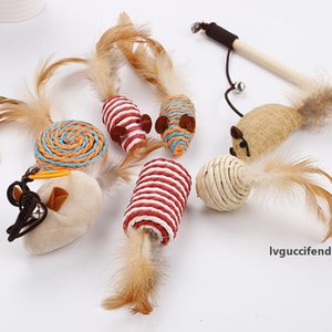 Cat Teaser Cat Toy 7pcs / Set Design carino Bird Feather Sticks Pet Supplies Bacchetta per il gattino Play A06
