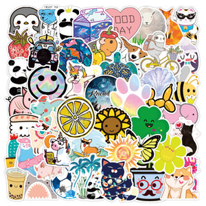 3 Sets = 150PCS Cartoon Cute Plant Animal Graffiti Stickers Computer Water Cup Scooter Waterproof Stickers