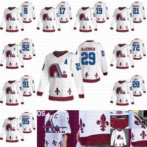 Homens Mulheres Jovens Colorado Avalanche 2021 Reverse Retro Jersey Nathan Mackinnon Mikko Rantanen Cale Makar Burakovsky Donskoi Forsberg Sakic
