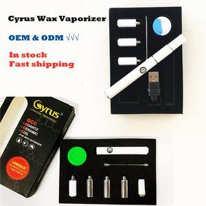 Kit de démarreur Cyrus authentique 510 Vaporisateur de fil 350mAh Batterie Chargeur USB Kit de chargeur d'huile épais pour E CIGS