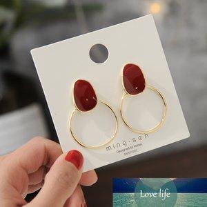 Модные серьги для женщин для женщин Корея мода круглые простые конфеты цвета девушки сладкие одобры серьги серьги-гвоздики ювелирные изделия