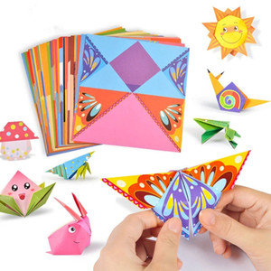 54 unids / set Baby Craft Toys Dibujos animados Animal Origami Papel Cutting Book Kids Paper Cut Puzzle Aprendizaje temprano Juguetes educativos Regalos