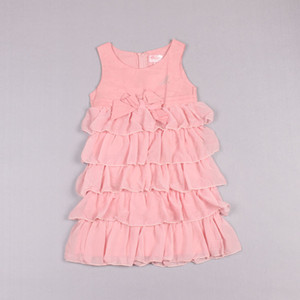 Clearance sale Summer girls dresses Tiered princess dress sleeveless kids dress kids dresses party dress kids clothing Z254