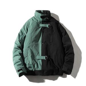 2020 Men Winter Jacket Parkas Coat Hip Hop Thick Cotton Jacket Male Fashion Young Casual Streetwear Harajuku Windbreaker Outwear