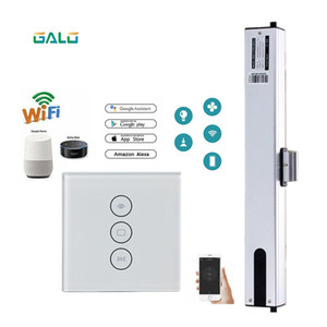 Chain electric window opener 2 4 wires motor with Tuya WiFi Curtain Blinds Switch & remote control kit Optional