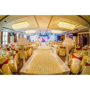 Bandas de silla terminadas Elastic Spandex Edge Lycra sash con hebilla para la boda