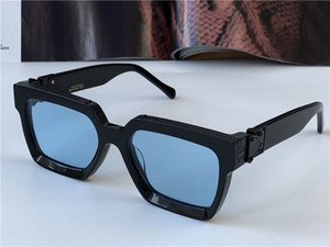 Men Design Occhiali da sole Millionaire 96006 Quadrato Black Frame Blue Lens New Color Top Quality Summer Outdoor Avant-Garde UV400 Lente